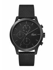 שעון יד לגבר מבית LACOSTE עם רצועת עור שחורה דגם 2010997