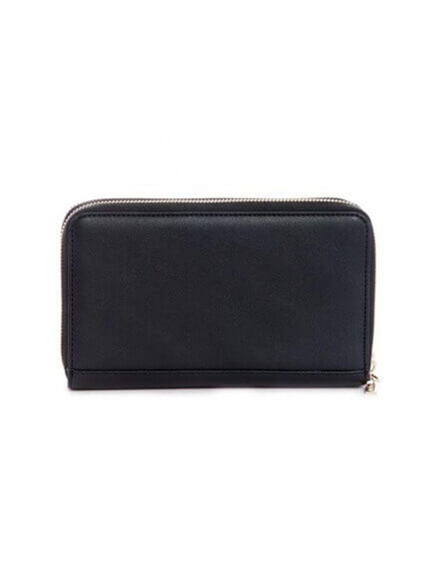 ארנק דמוי עור מבית GUESS לאישה בצבע שחור דגם DF745568