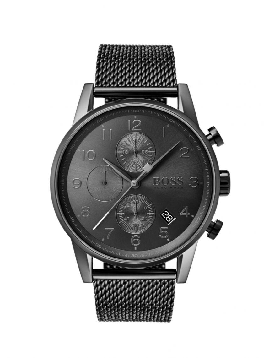 שעון יד HUGO BOSS לגבר עם רצועת מש דגם 1513674