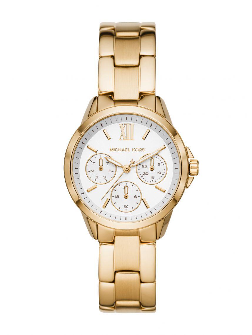 שעון יד MICHAEL KORS לאישה עם רצועת מתכת בצבע זהב דגם MK6882