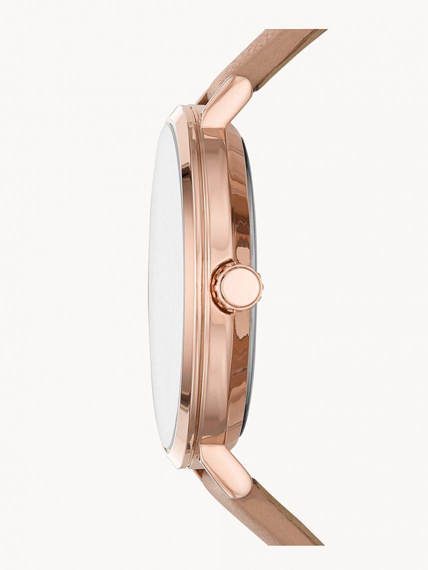 שעון יד MICHAEL KORS לאישה   קולקציית JAYNE רצועת עור בז' דגם MK7105