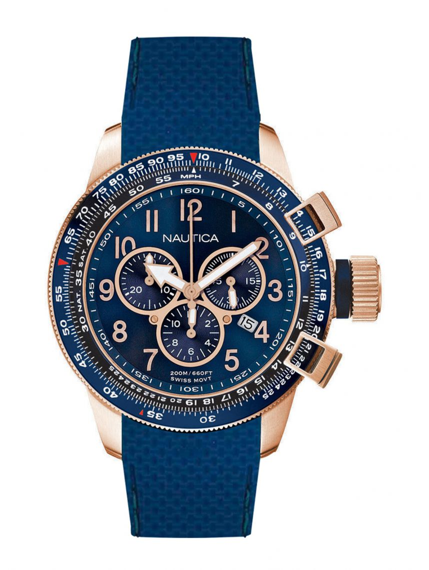שעון NAUTICA לגבר עם רצועת סיליקון דגם NAI28500G
