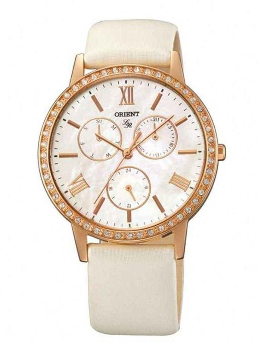 שעון יד ORIENT לאישה עם רצועת עור דגם FUT0H002W0