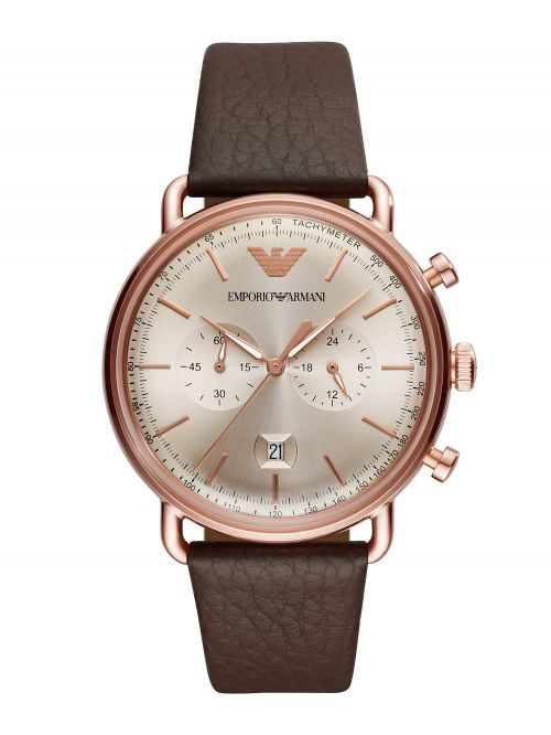 שעון יד EMPORIO ARMANI לגבר קולקציית AVIATOR דגם AR11106