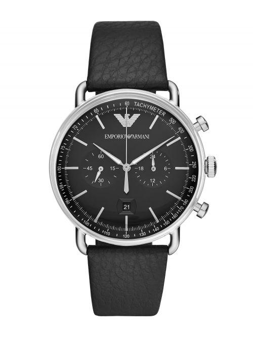 שעון יד EMPORIO ARMANI לגבר עם רצועת עור דגם AR11143