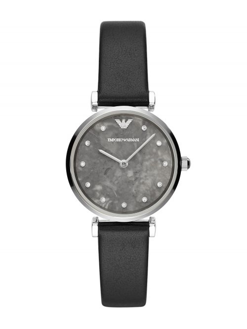 שעון יד EMPORIO ARMANI לאישה עם רצועת עור קולקציית GIANNI T-BAR דגם AR11171