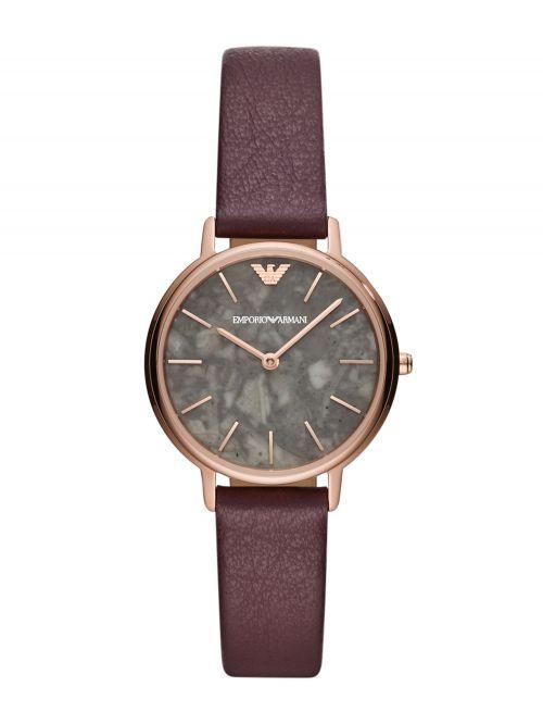 שעון יד EMPORIO ARMANI לאישה עם רצועת עור קולקציית KAPPA דגם AR11172