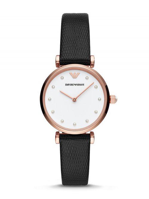 שעון יד Emporio Armani לאישה עם רצועת עור דגם AR11270