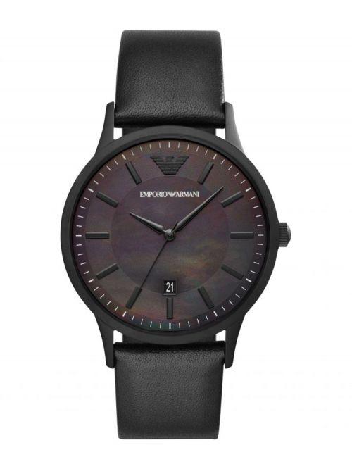 שעון יד EMORIO ARMANI לגבר עם רצועת עור דגם AR11276