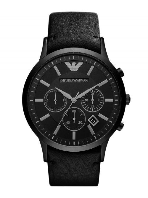 שעון יד EMPORIO ARMANI לגבר עם רצועת עור קולקציית RENATO דגם AR2461