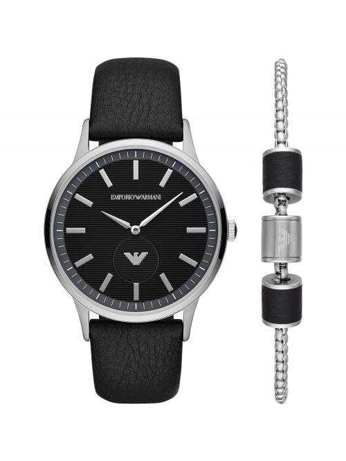 סט שעון וצמיד EMPORIO ARMANI לגבר קולקציית RENATO דגם AR80039