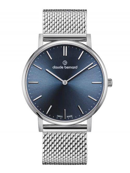 שעון יוניסקס CLAUDE BERNARD קולקציית SLIM LINE  בצבע כסף דגם 202193MBUIN