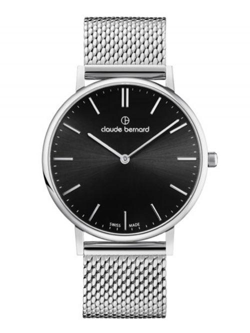 שעון יוניסקס CLAUDE BERNARD קולקציית SLIM LINE  בצבע כסף דגם 202193MNIN