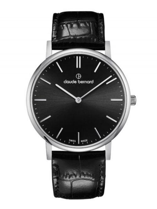 שעון  יוניסקס CLAUDE BERNARD קולקציית  Slim line רצועת עור דגם 202193NIN
