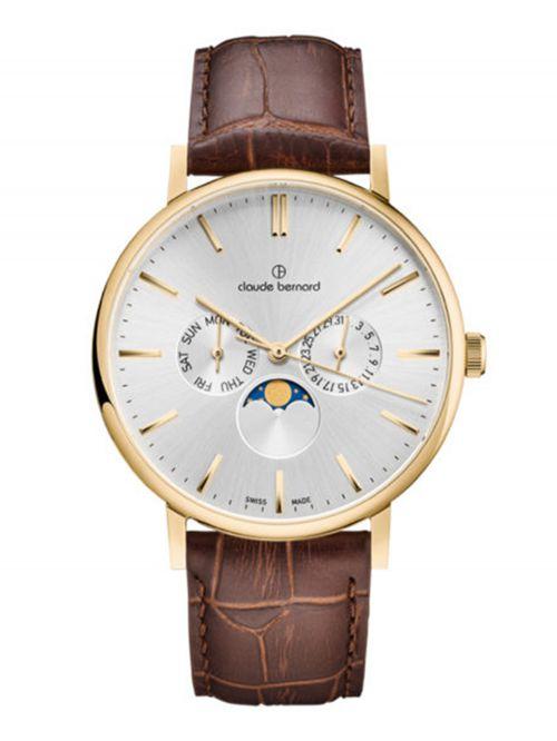 שעון  יוניסקס CLAUDE BERNARD קולקציית  Slim line רצועת עור דגם 4000437JAID