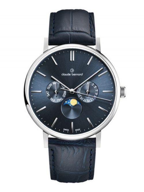 שעון  יוניסקס CLAUDE BERNARD קולקציית  Slim line רצועת עור דגם 400043BUIN