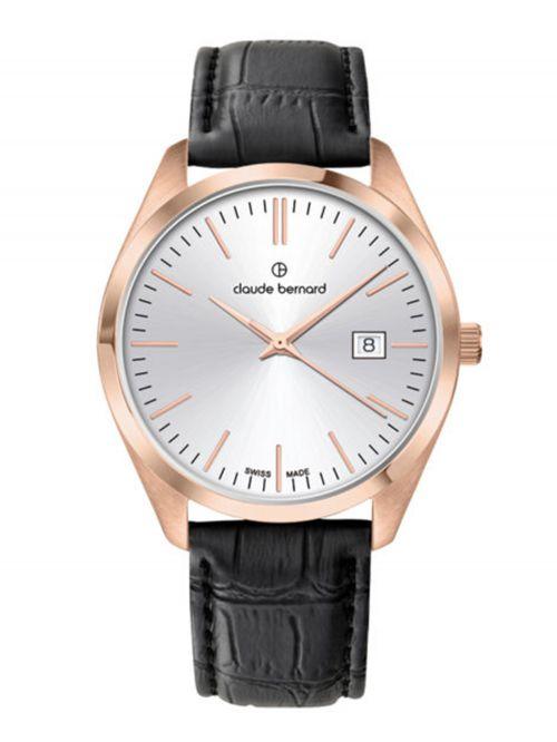שעון  לגבר CLAUDE BERNARD קולקציית  Classic רצועת עור דגם 7020137RAIR