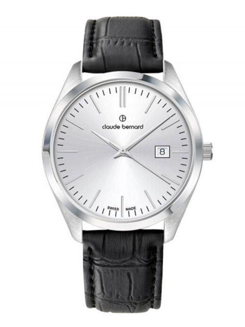 שעון  לגבר CLAUDE BERNARD קולקציית  Classic רצועת עור דגם 702013AIN