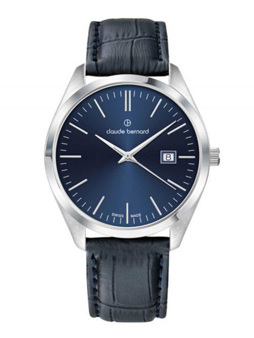 שעון  לגבר CLAUDE BERNARD קולקציית  Classic רצועת עור דגם 702013BUIN