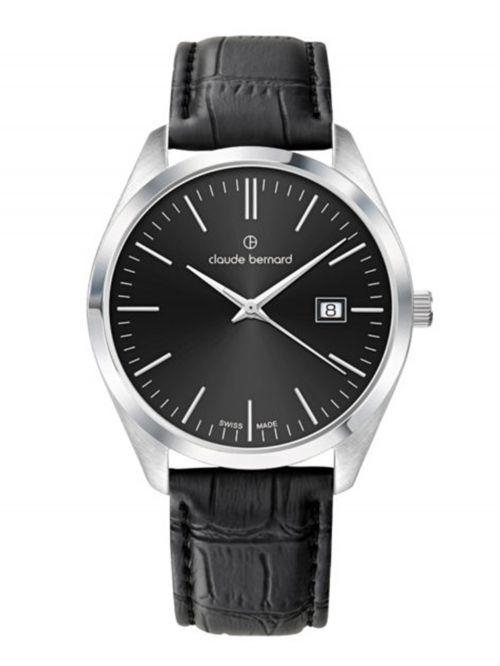 שעון  לגבר CLAUDE BERNARD קולקציית  Classic רצועת עור דגם 702013NIN