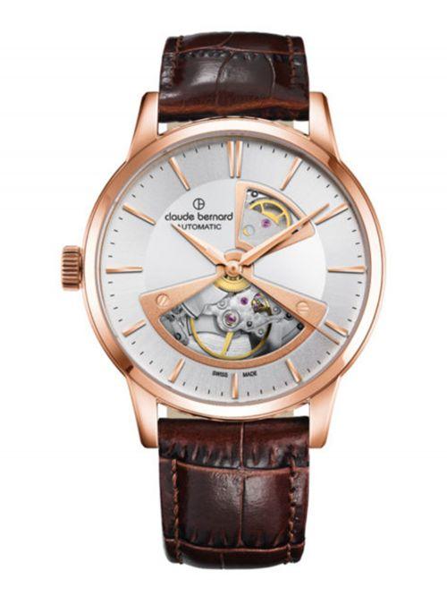 שעון  לגבר CLAUDE BERNARD קולקציית  Classic רצועת עור דגם 8501737RAIR2