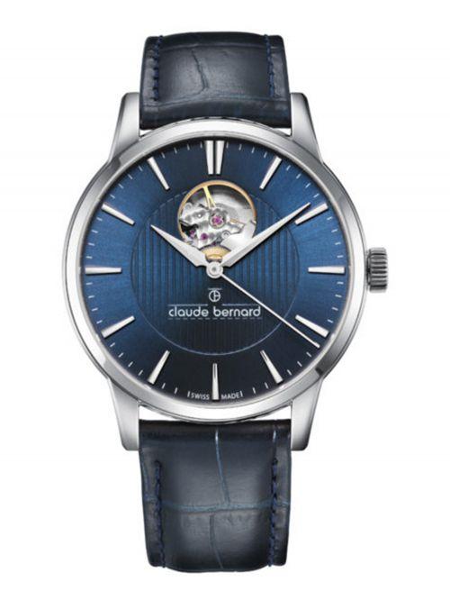 שעון  לגבר CLAUDE BERNARD קולקציית  Classic רצועת עור דגם 850173BUIN