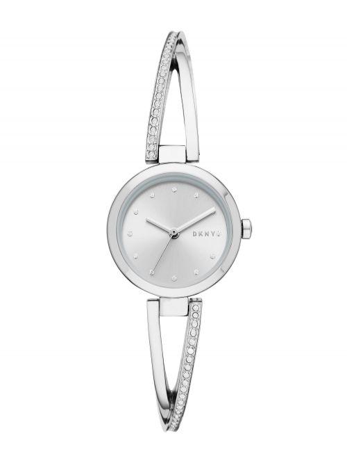 שעון יד DKNY לאישה קולקציית CROSSWALK עם רצועת מתכת דגם NY2792