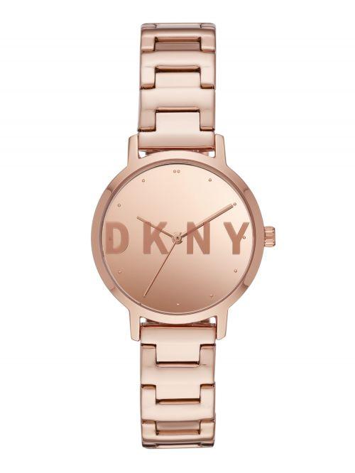 שעון DKNY  נשים קולקציית  Three-Hand Rose Gold-Tone THE MODERNIST