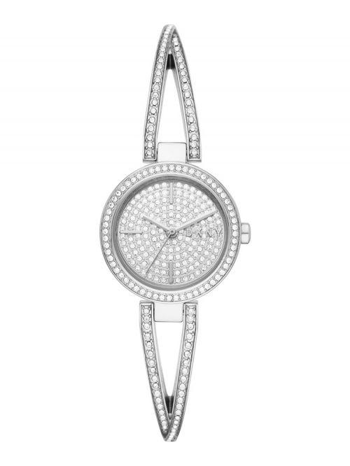 שעון יד DKNY לאישה קולקציית CROSSWALK עם רצועת מתכת דגם NY2852