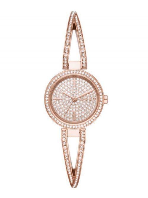 שעון יד DKNY לאישה קולקציית CROSSWALK עם רצועת מתכת דגם NY2853