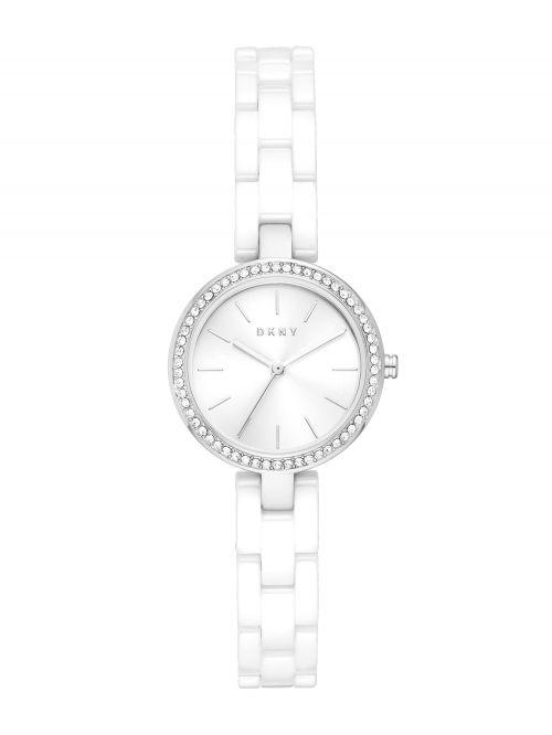 שעון יד DKNY לאישה עם רצועת קרמיקה דגם NY2915