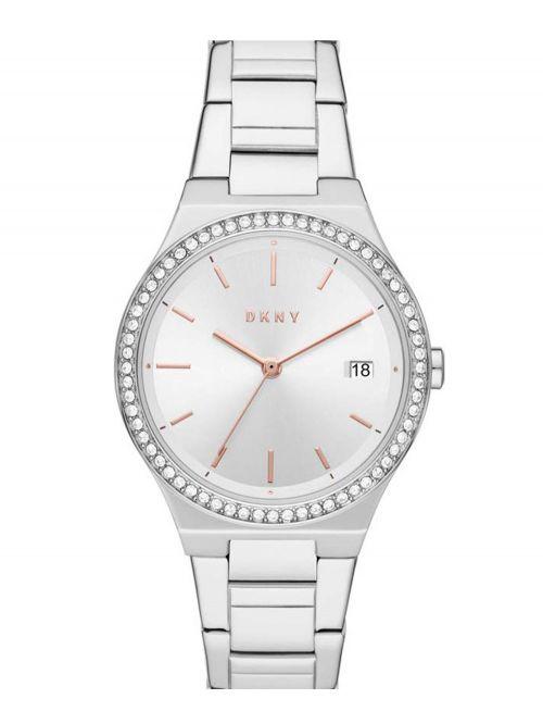 שעון יד DKNY לאישה עם רצועת מתכת דגם NY2926