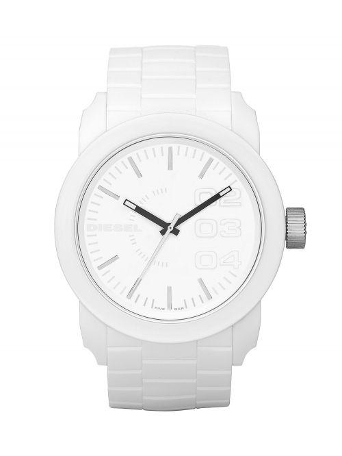 שעון יד DIESEL לגבר עם רצועת סיליקון קולקציית DOUBLE DOWN דגם DZ1436