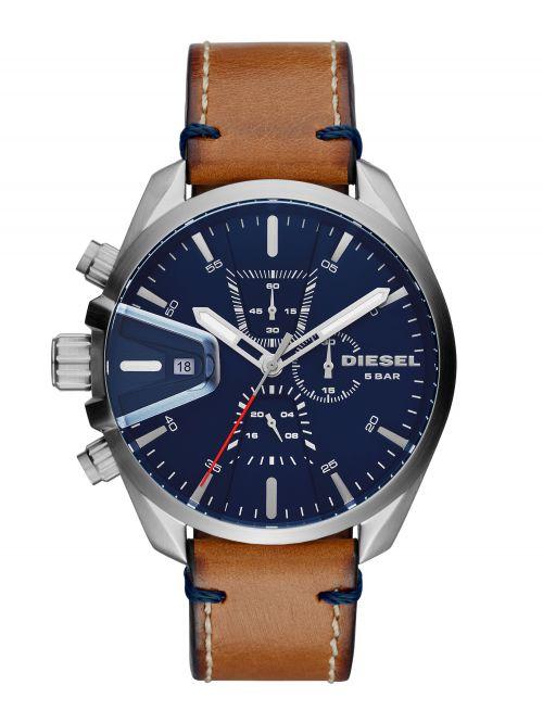 שעון יד DIESEL לגבר עם רצועת עור קולקציית MS9 דגם DZ4470