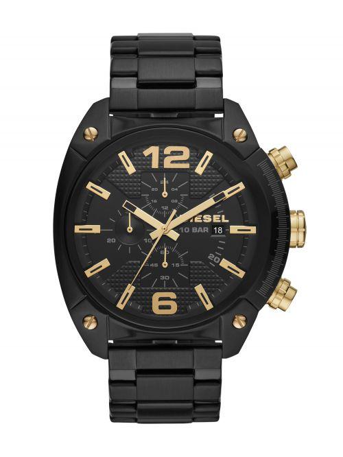 שעון יד DIESEL לגבר עם רצועת מתכת בצבע שחור דגם DZ4504