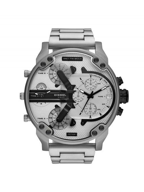 שעון יד DIESEL לגבר עם רצועת מתכת קולקציית MR. DADDY דגם DZ7421