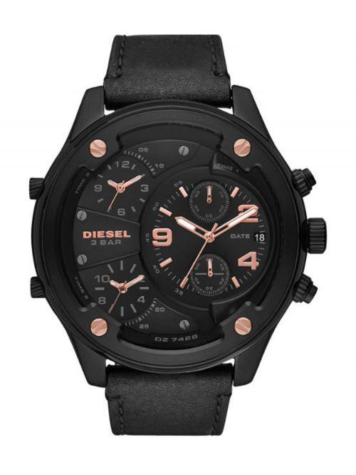 שעון DIESEL לגבר עם רצועת עור קולקציית RASP דגם DZ1801