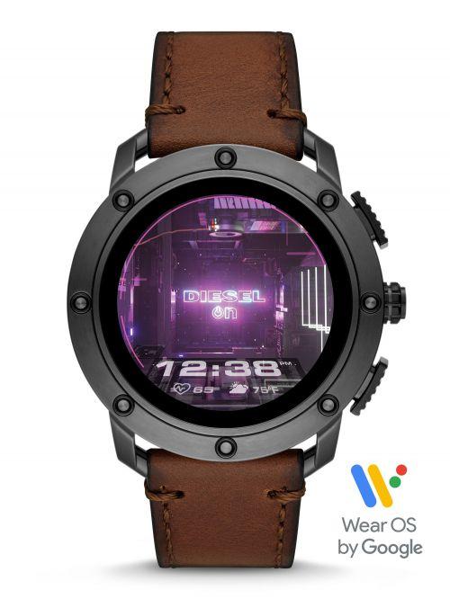 שעון יד חכם DIESEL לגבר עם רצועת עור קולקציית AXIAL  דגם DZT2032