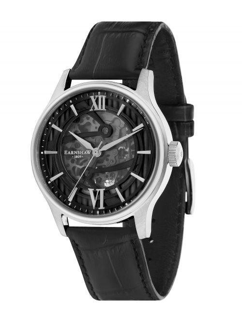 שעון יד EARNSHAW לגבר עם רצועת עור דגם 8801-01