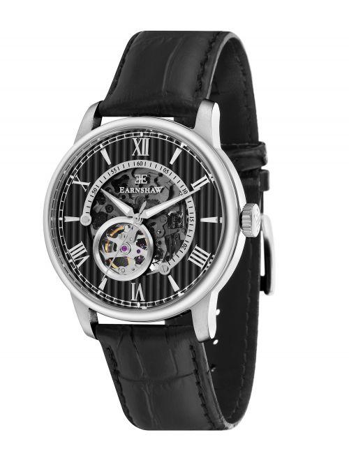שעון יד EARNSHAW לגבר עם רצועת עור דגם 8802-01