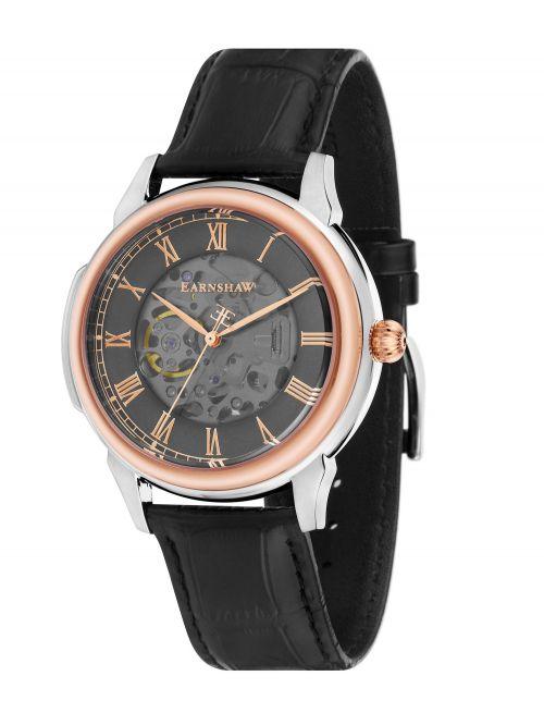 שעון יד EARNSHAW לגבר עם רצועת עור דגם 8805-04