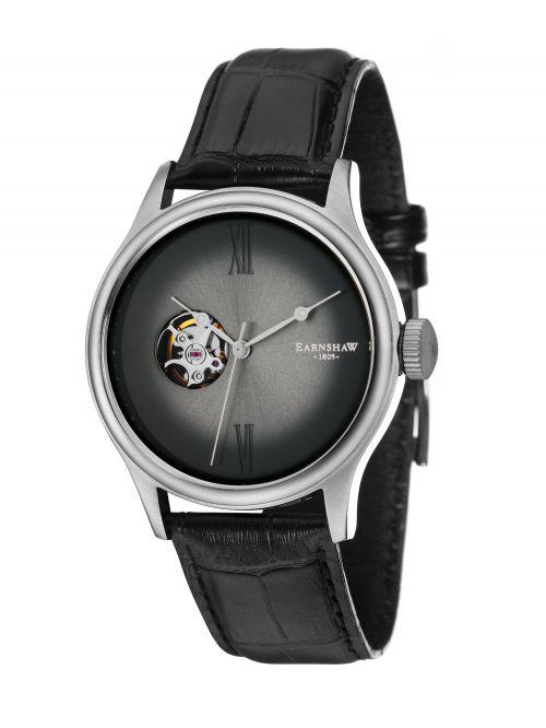 שעון יד EARNSHAW לגבר עם רצועת עור דגם 8809-01