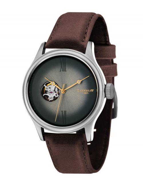 שעון יד EARNSHAW לגבר עם רצועת עור דגם 8809-02