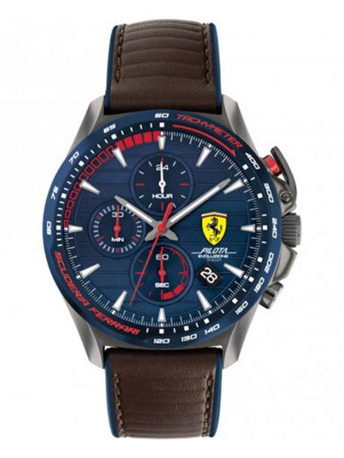 שעון יד לגבר מבית FERRARI עם רצועת עור  דגם 0830848