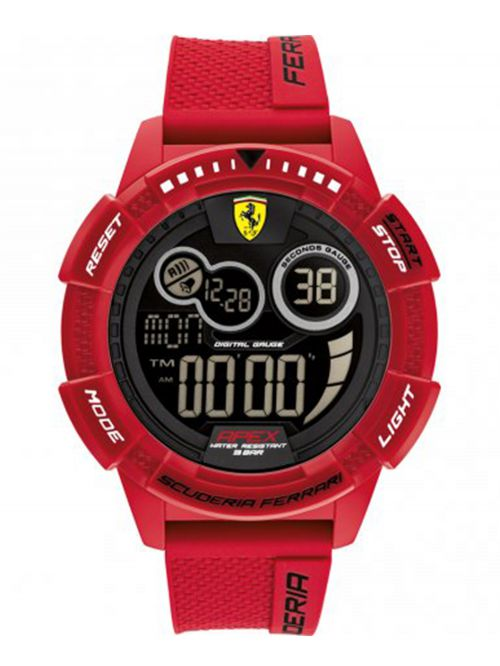 שעון  דיגיטלי לגבר FERRARI רצועת סיליקון אדומה דגם 0830857