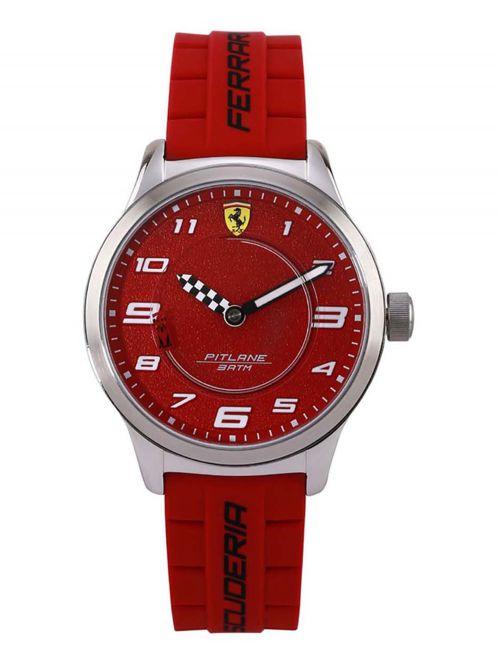 שעון יד יוניסקס מבית FERRARI עם רצועת סיליקון בצבע אדום דגם 0860016