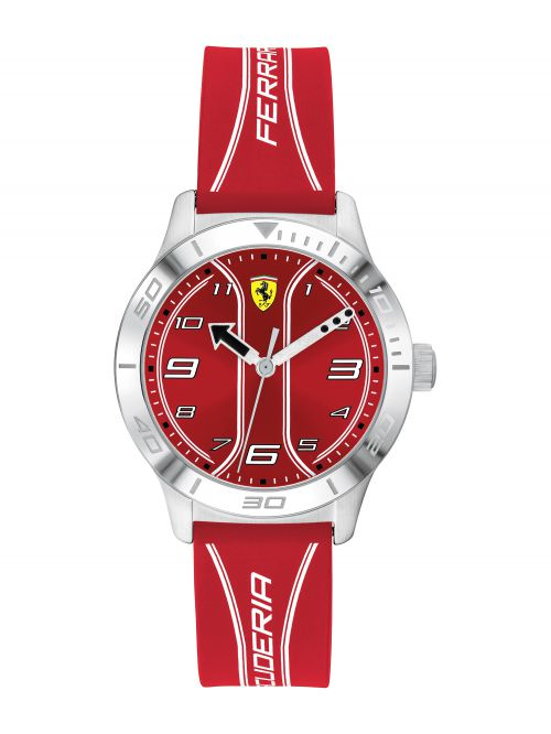 שעון יד ילדים FERRARI רצועת סיליקון אדומה דגם 810023