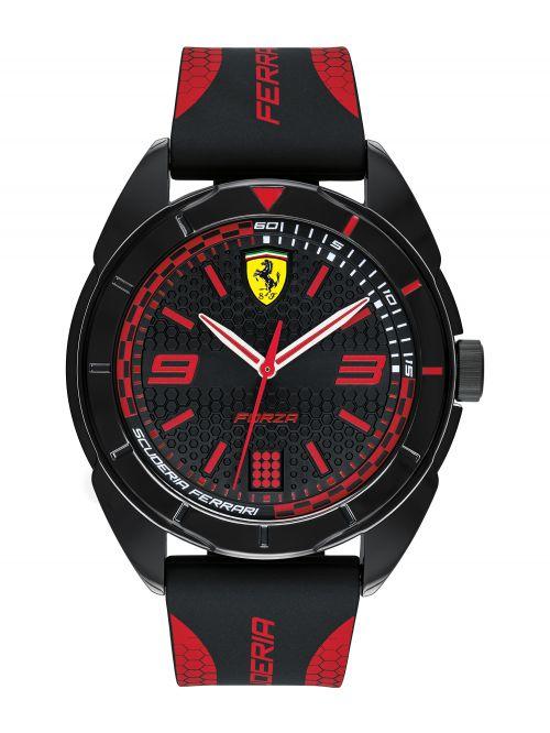 שעון יד לגבר FERRARI רצועת סיליקון שחורה דגם 830515