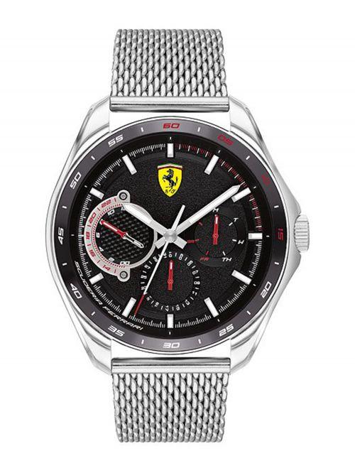 שעון יד גברים מבית FERRARI עם רצועת מש דגם 830684