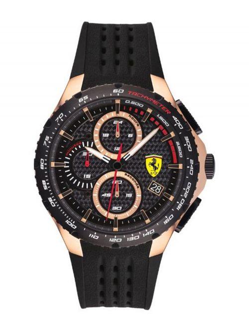 שעון יד גברים מבית FERRARI עם רצועת סיליקון דגם 830728